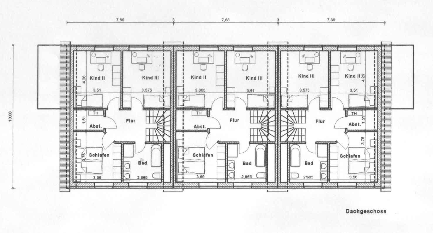 Erlhorst 11/13/15, Delmenhorst, Abbildung Dachgeschoss