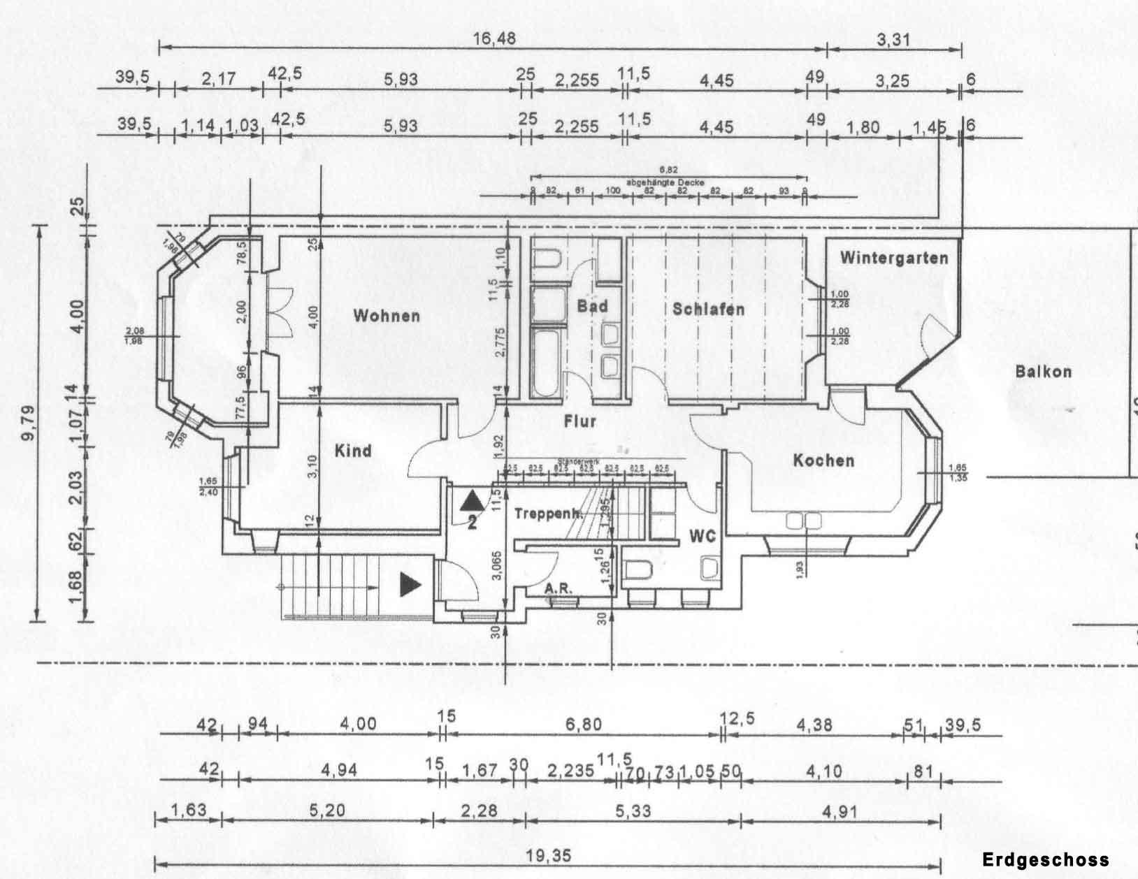 Osterdeich 91, Bremen, Abbildung Erdgeschoss