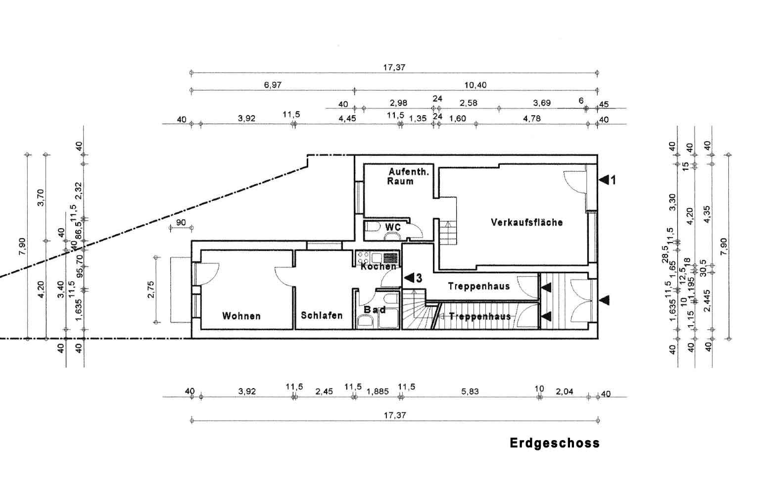 Parkallee 19, Bremen, Abbildung Erdgeschoss