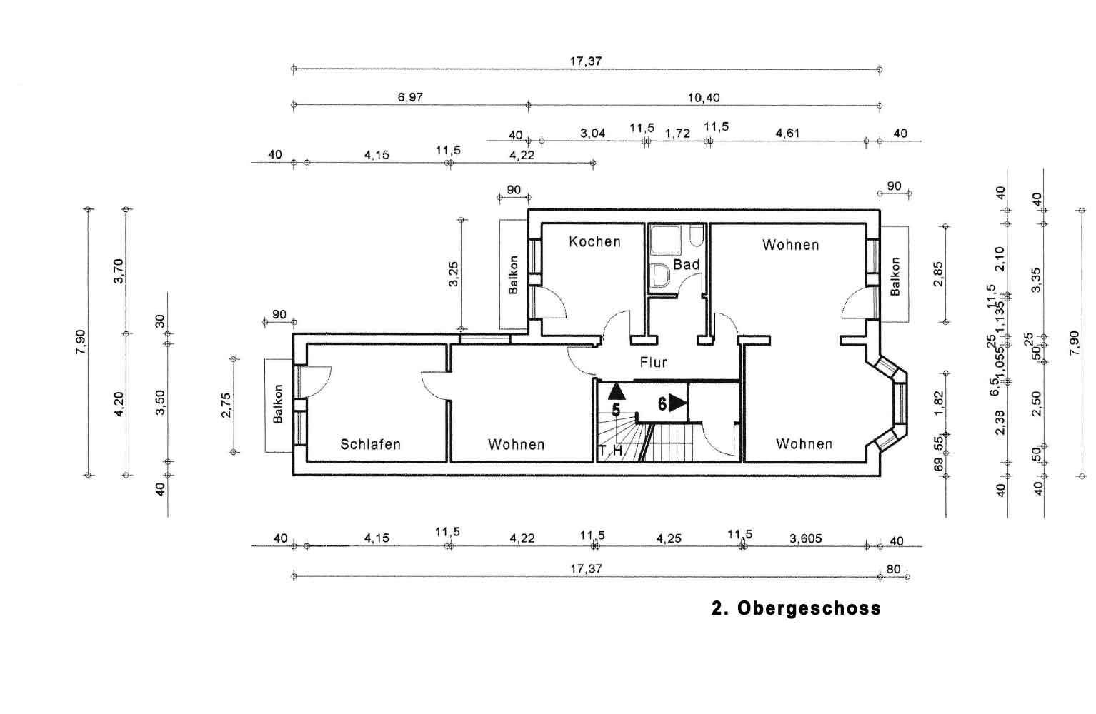 Parkallee 19, Bremen, Abbildung 2. Obergeschoss