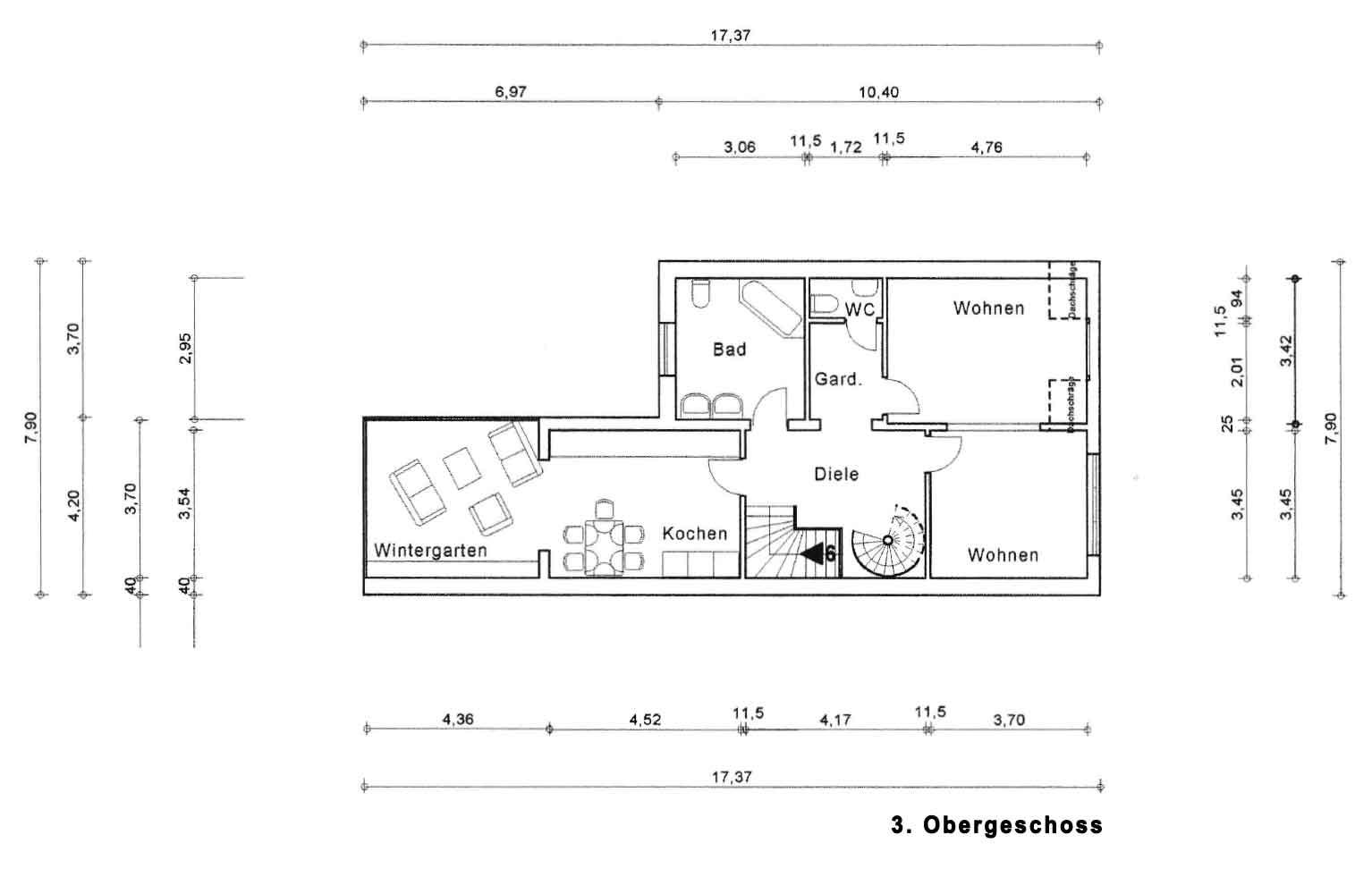 Parkallee 19, Bremen, Abbildung 3. Obergeschoss